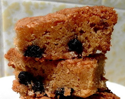 Blueberry White Chocolate Blondies | Desserts | Pinterest