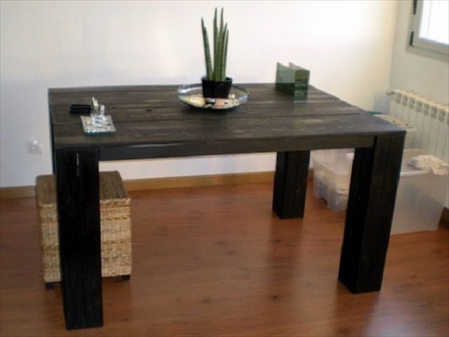 Recycled pallet dining table 15 ideas for Pallet dining table