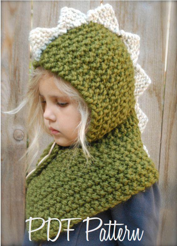 Knitting Pattern For Toddler Cowl : KNITTING PATTERN - Dalton Dino Cowl (6/9 month - 12/18 ...