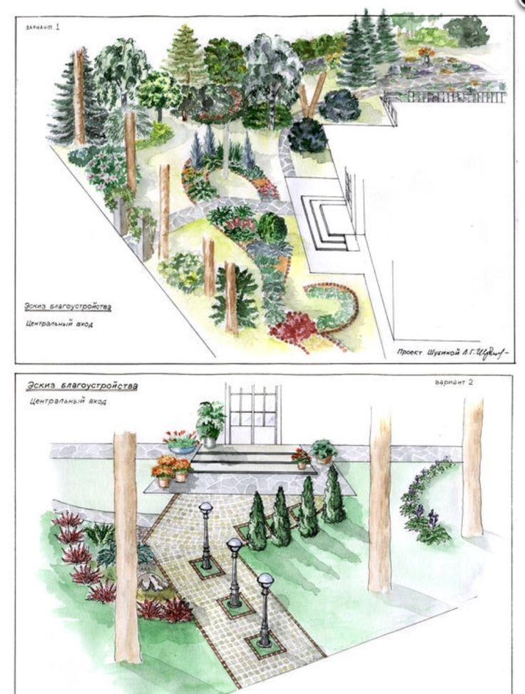 Дизайн парадной зоны участка