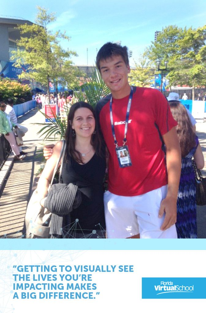Flvs student and tennis player martin redlicki s teacher was thrilled