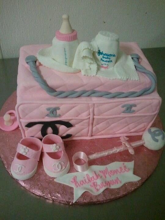 chanel baby shower baby shower cakes pinterest