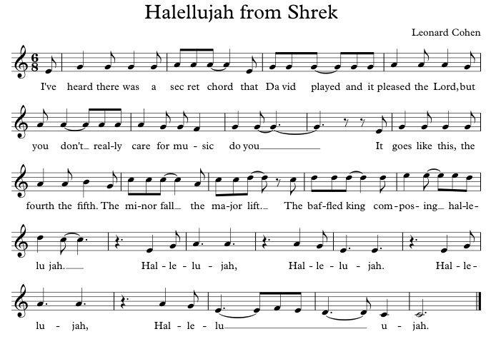 Hallelujah Song In Shrek V Vp 2018