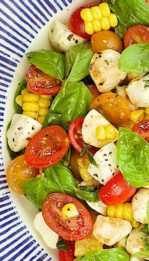 Caprese Salad with Fresh Corn | Recipe