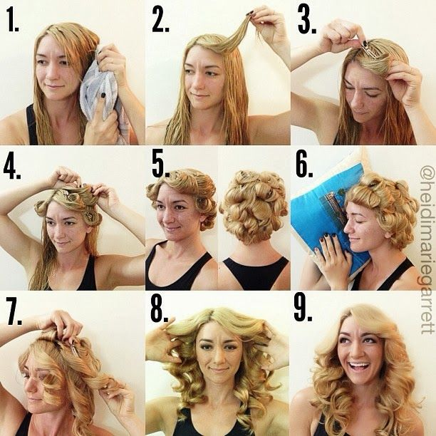 Как сделать большие локоны из волос 92