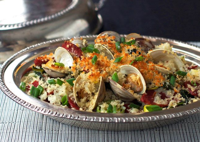 Bon Appetit Chinese Sausage and Clam Rice Casserole--but I'll sub some ...