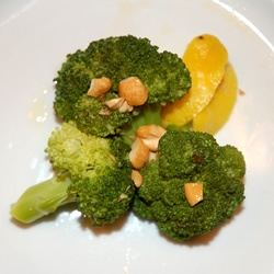 Broccoli with Garlic Butter and Cashews Allrecipes.com