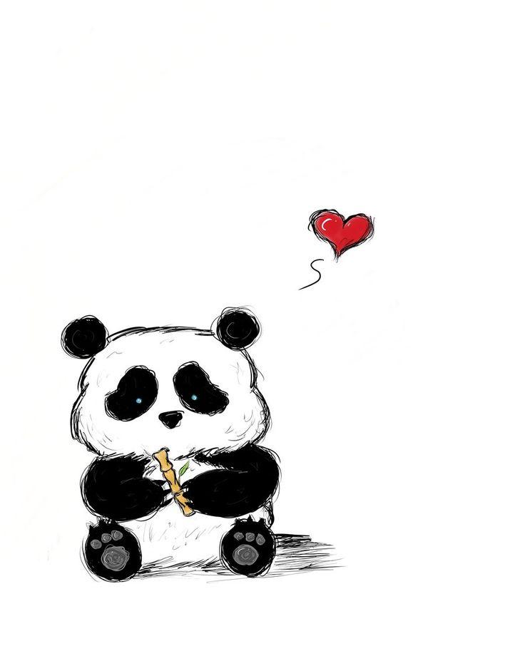 Panda face drawing