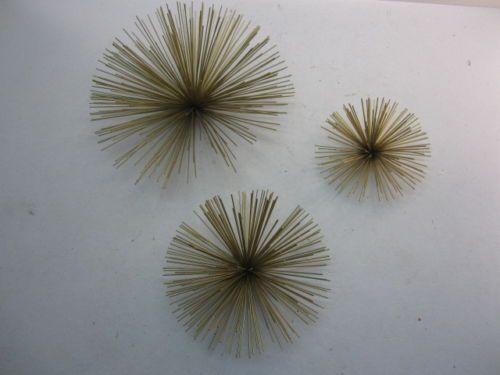 3 Metal Mid Century Starburst Wall Decor Urchin Sunburst