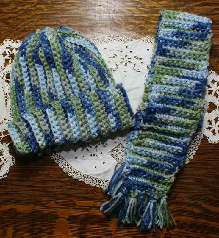 Crochet Pattern Hat Scarf Combo : Childs Crochet Hat and Scarf combo