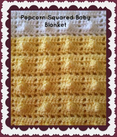 Popcorn Squares Afghan Crochet Pattern | Red Heart