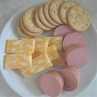 Pickled Bologna ~ Ingredients: 1-ring bologna, 1-cup white vinegar, 1/4-cup sugar, 1/8-tsp. salt, 1-tbsp. Mixed pickling spices, 1/2-cup Water, 1-med. onion, sliced.