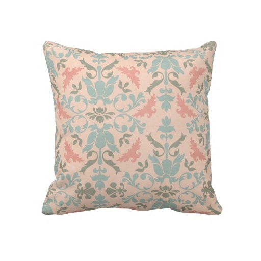 Throw Pillow In French : Decorative French Damask Throw Pillow