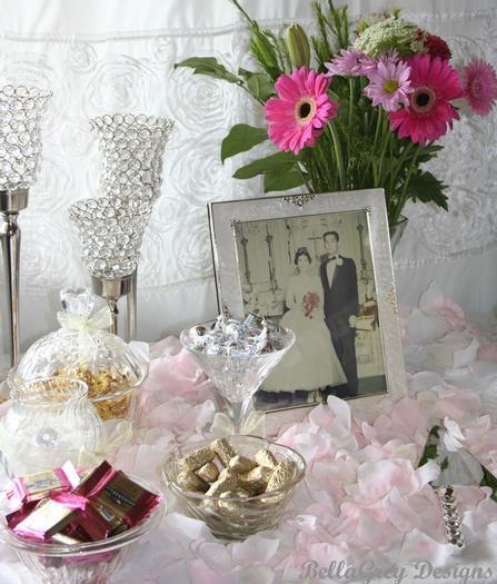 Table decoration ideas 50th wedding anniversary ideas pinterest