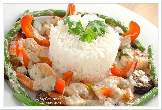 Thai Green Curry Shrimp | MyGourmetConnection