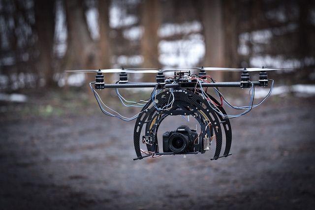 hexacopter test flight with 7D by VilleHoo, via Flickr