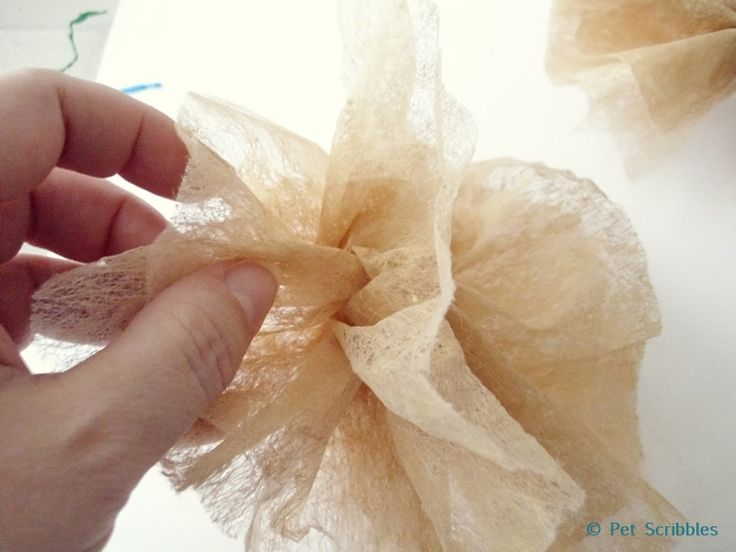 dryer sheet flower craft | Crafts | Pinterest