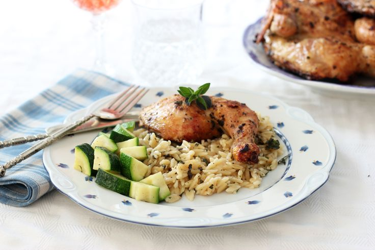Herb Grilled Chicken with Parmesan Orzo   Recipes - Sides - Pasta   P ...