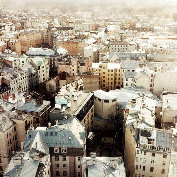 riga, latvia. beautiful rooftops.