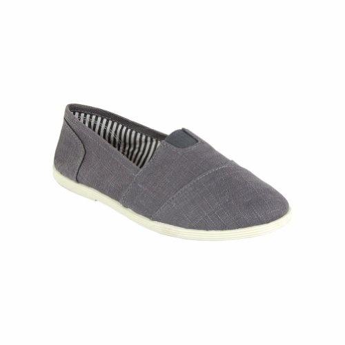 Soda Women's Canvas Slip-Ons Shoes Grey