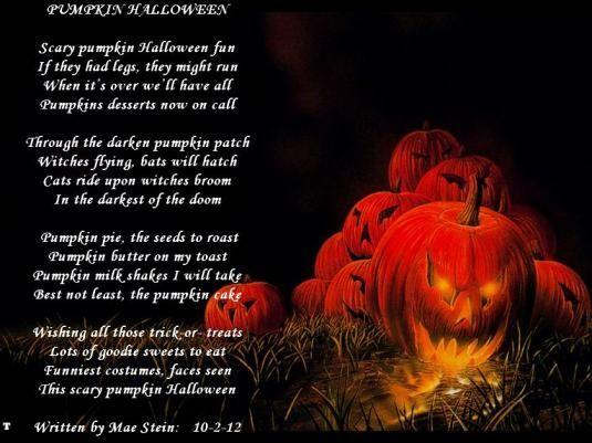 Poem – Pumpkin Halloween | Happy Haunting Halloween Fall Fun ...