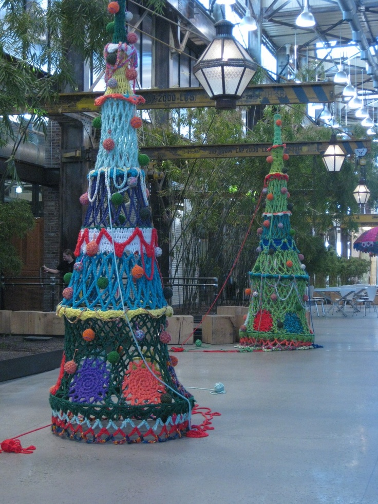 LUREN JENISON- hand crocheted Christmas tree display