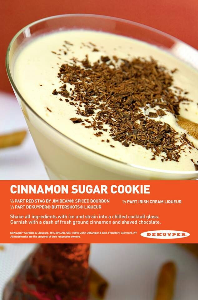 Cinnamon sugar cookie   Drinks for all ages   Pinterest