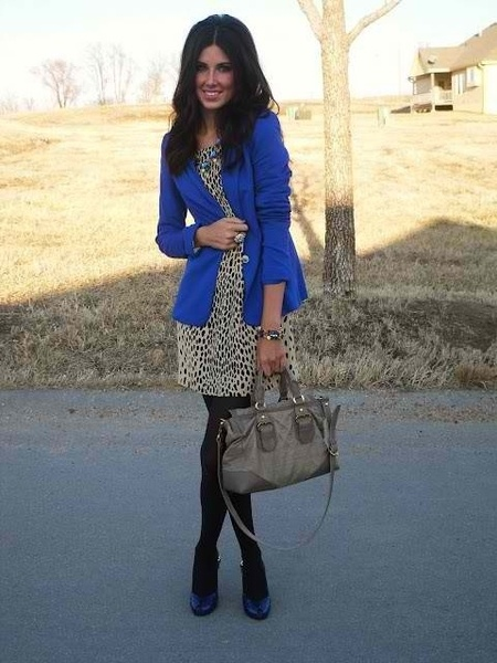 Blue Blazer & Animal Print!