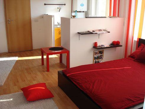 Studio apartment interior design studios bedsit tiny for Bedsitter interior design