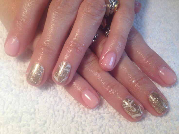Breast cancer awareness shellac | My nail work | Pinterest