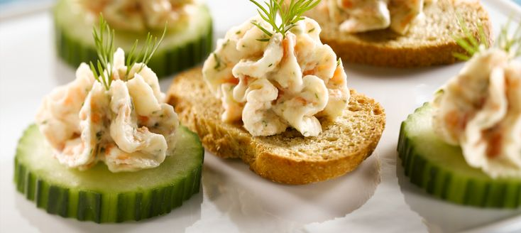 Smoked Salmon Mousse Canapes - My Milk Calendar Recipes | Dairy ...