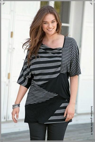 Tee shirt découpes asymétriques et couleurs décalées original ...