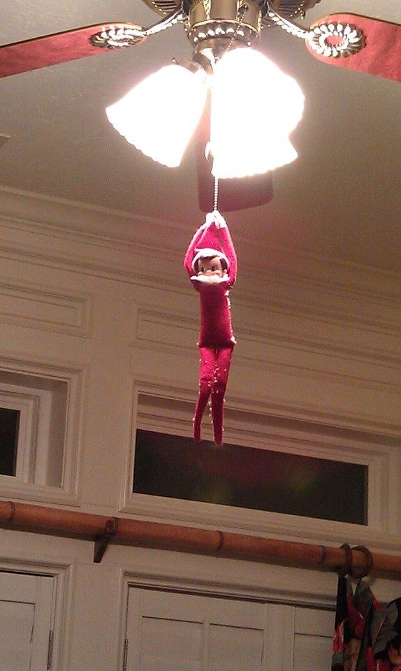 elf hanging