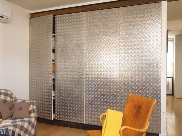 Placard avec portes en métal à damier  Style industriel - Esprit ...