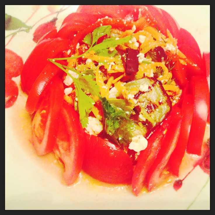 Eggplant & Feta Cheese Vegetable Salad | Salads | Pinterest