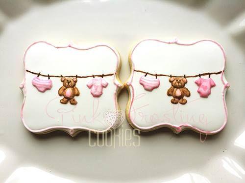 Pink frosting cookies | cookies | Pinterest