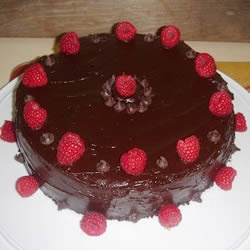 Deep Chocolate Raspberry Cake | Recipe