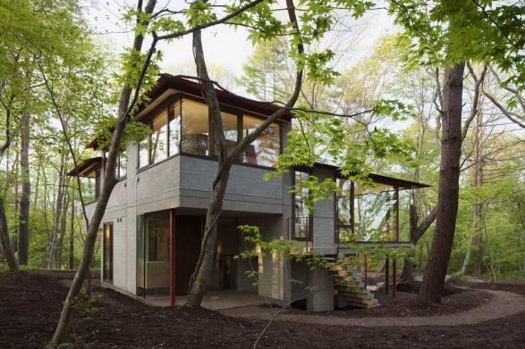 Forest house in japan dream home pinterest for Japanese dream house