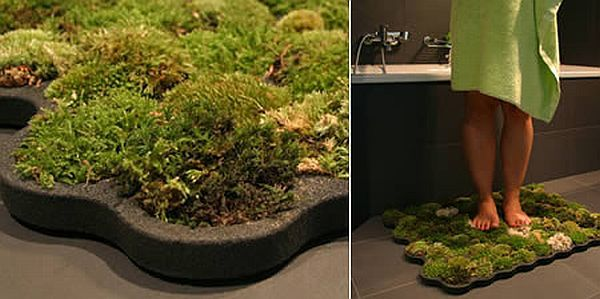 Moss bath rug technology and products pinterest for Natural moss bath mat