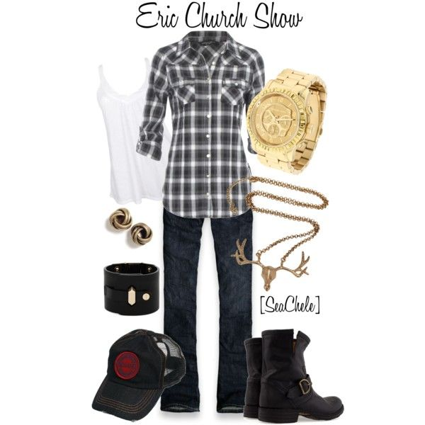 Eric Church  created by michele-cortes on PolyvoreEric Church Cowboy Boots