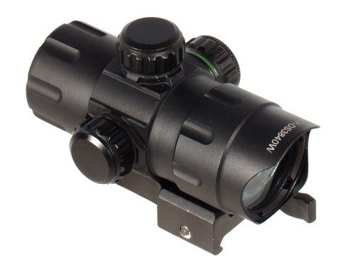UTG DS3840 4-Inch ITA Red/Green Dot Sight with 2 QD Mounts and Flip-open Lens Caps