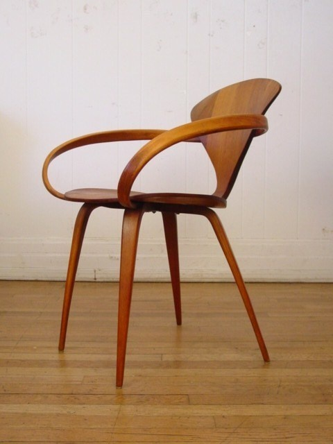 Vintage plycraft arm chair cherner bent plywood