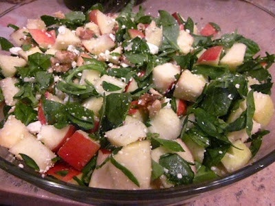 Chopped Apple Salad with Toasted Walnuts, Blue Cheese & Pomegranate ...