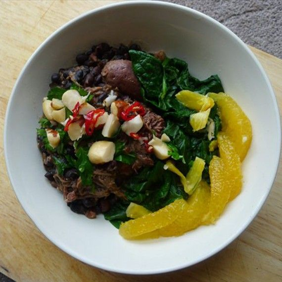 Feijoada (Brazilian black bean, pork and beef stew)