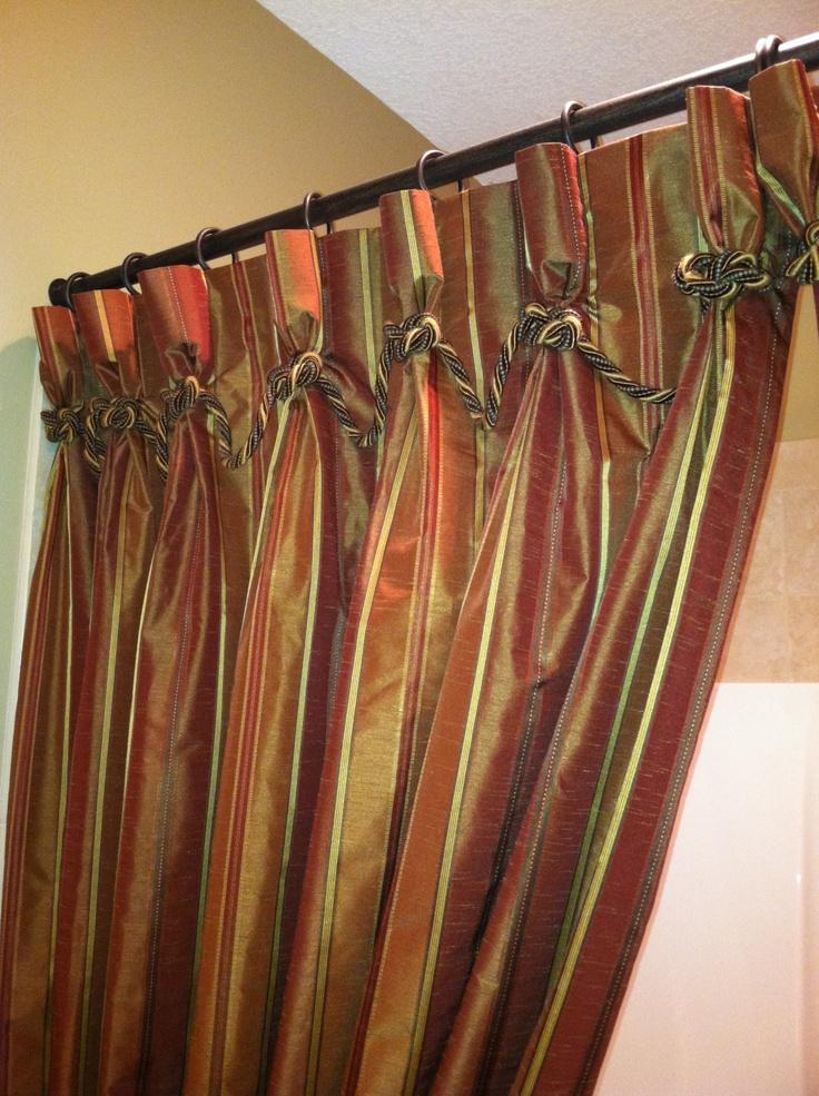 Custom Shower Curtain Detail Dawn Draperies Pinterest