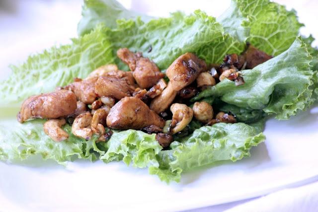 Spicy chicken & cashew lettuce wraps | chicken | Pinterest