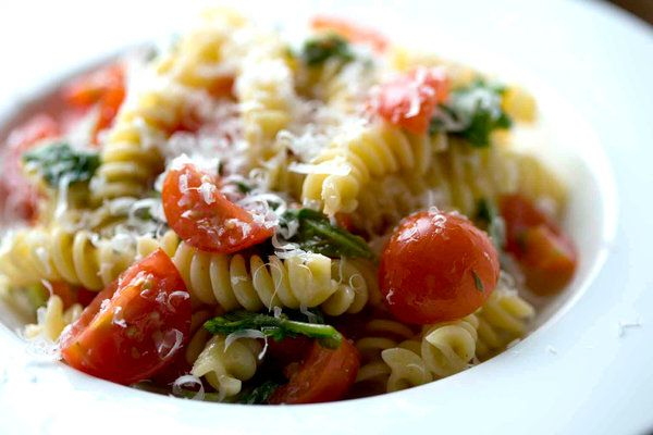 Pasta with Cherry Tomatoes and Arugula by Martha Rose Shulman