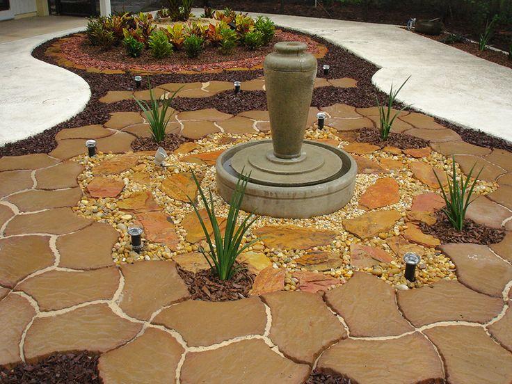 Front yard landscaping ideas pinterest ask home design for Grassless garden designs