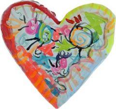 Valentines heart art b | Art Kindergarten Lessons | Pinterest