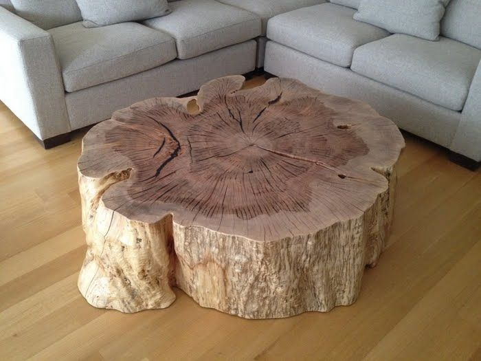 Organic Stump Coffee Table Vanillawood House Pinterest